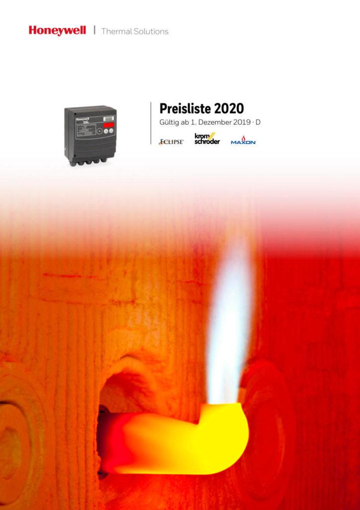 Kromschröder Preisliste 2020